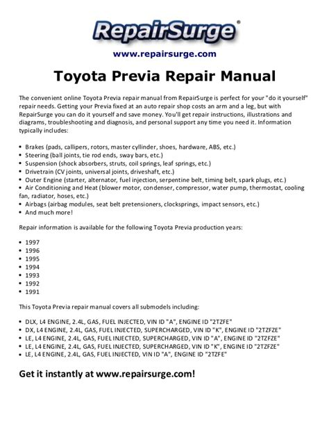 online car repair manuals free 1995 toyota previa auto manual 1995 previa wiring diagram pdf 30 wiring diagram images wiring diagrams readyjetset co