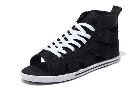 Convers Open converse open toe black elastic band summer all