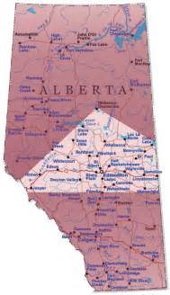 alberta tourist map alberta mappery
