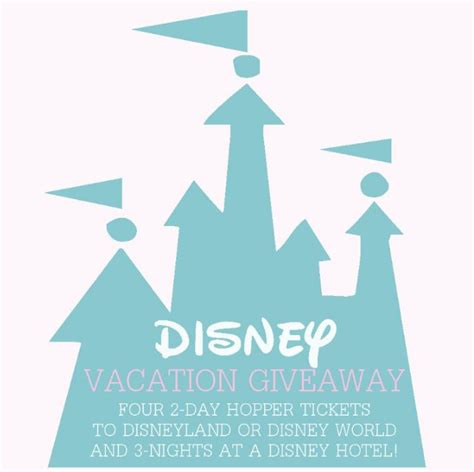 Disney Vacation Giveaway - disney family vacation giveaway