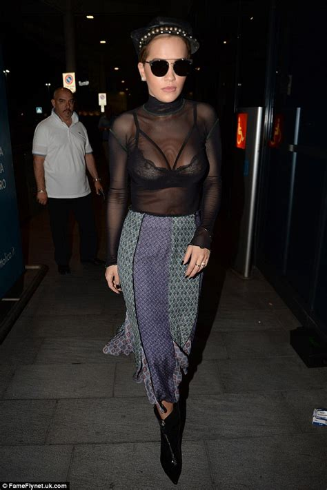 Bra Transparan ora flaunts sheer top daily mail