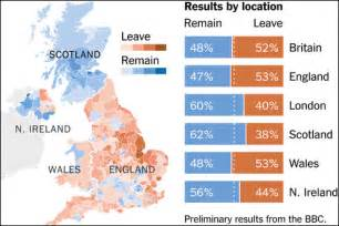 map uk eu referendum results brexit the decision of a divided country new cold war ukraine and beyond