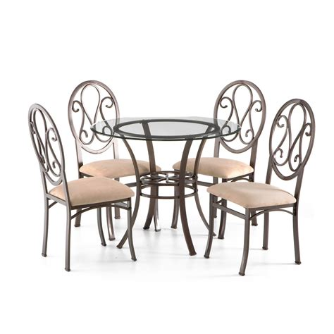 Lucianna Dining Table Lucianna Brown Dining Table With Glass Top Southern Enterprises Dining Tables Dining
