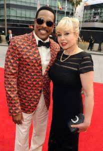 Charlie wilson and his wife mahin tat on the red carpet of the 2013