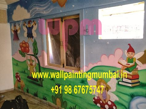 Wall Murals In Mumbai Play School Wall Painting Pre School Classroom Wall