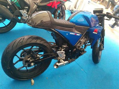 Suzuki Indonesia Motor Suzuki Gsx R150 Cafe Racer Showcased At 2017 Indonesia