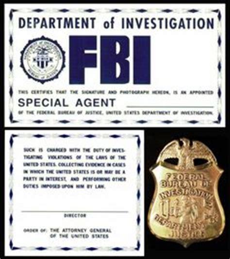 fbi id card template free fbi id template fbi identification card x files prop