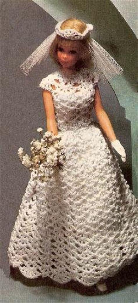 Bridal Pattern Fashion Doll Crochet  Ee  Dress Ee   Barbie Doll