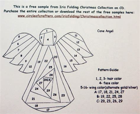 Free Paper Folding Patterns - best photos of iris folding designs circle of crafters