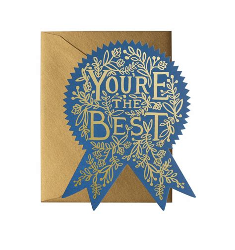 you re the best die cut flat note by rifle paper co