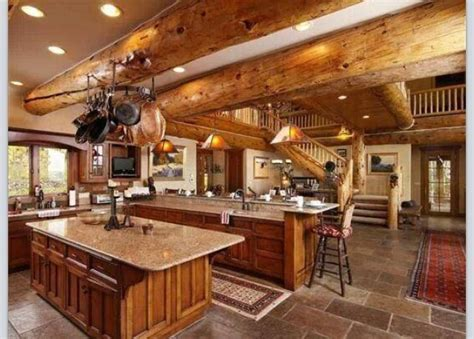 37 best images about Log Home Kitchens on Pinterest