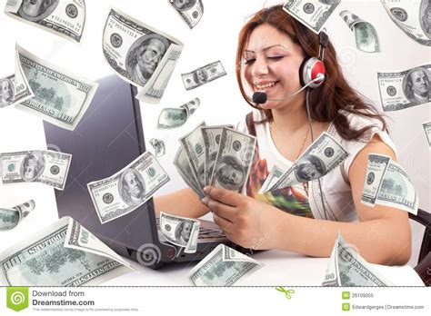How To Make Money Online At A Young Age - happy woman earn online money royalty free stock photo image 26109055