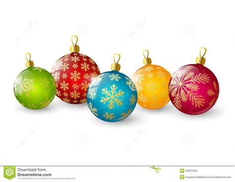 imagenes animadas de bolas de navidad bolas de la navidad del color ilustraci 243 n del vector