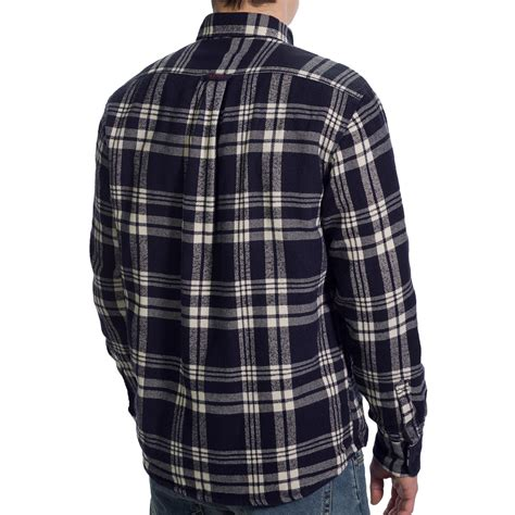 Mens Flannel Shirt Jacket With Quilted Lining by Gant C Cus Flannel Shirt Jacket For 8165f Save 81