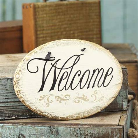 shabby chic signs shabby chic quot welcome quot sign signs ornaments home decor