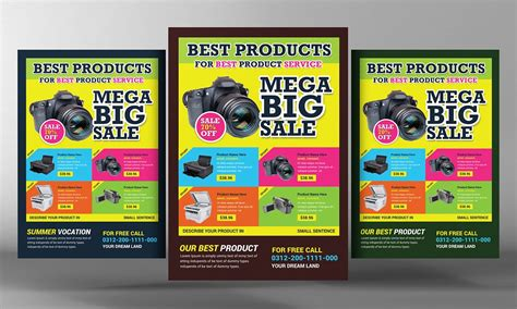 Product Promotion Flyer Template Flyer Templates Creative Market Promotional Flyer Template