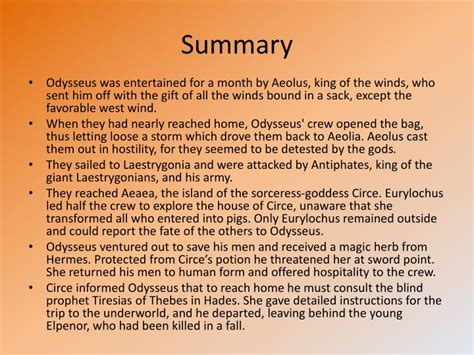 the odyssey book report ppt the odyssey book 10 the bewitching of aeaea