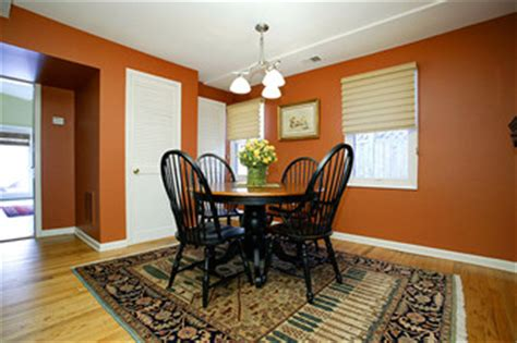 Burnt Orange Dining Room by Image Painting Dining Room Burnt Orange Traditional