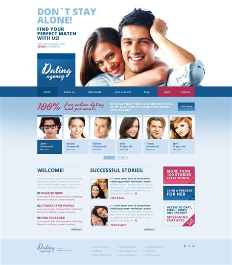 Dating Responsive Website Template 43380 Dating Site About Me Template