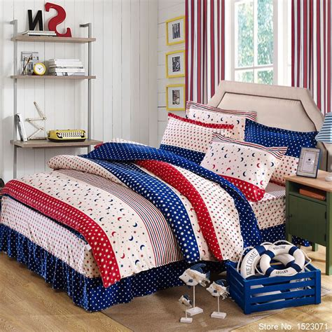 boys queen size bedding 100 cotton 4pcs flora bedding set child bedspread boys