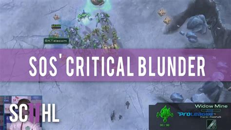 Chairs 4 Gaming Sos Critical Blunder Starcraft Ii Proleague Youtube
