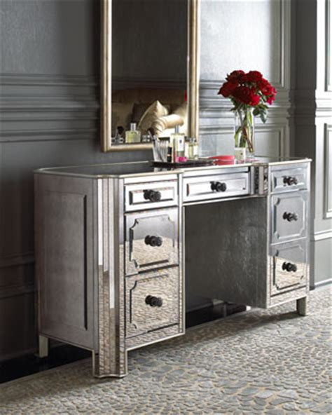Mirrored Make Up Vanity by Quot Logan Quot Mirrored Vanity Desk Traditional Bedroom