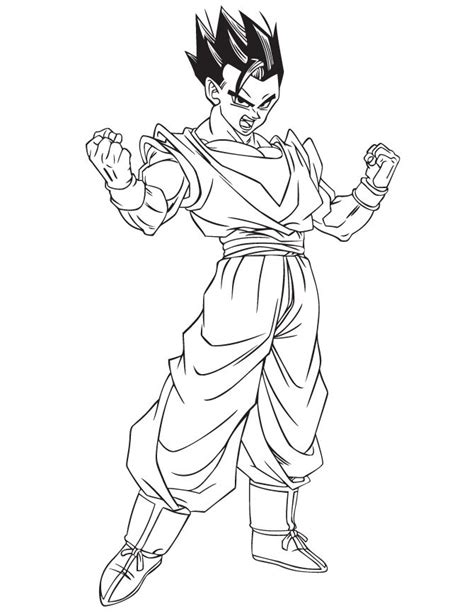 Dragon Ball Z Line Art In Color Dragon Ball Z Mystic Gohan Coloring Pages