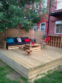 Pallet Patio Deck by Gallery For Gt Pallet Projects Deck