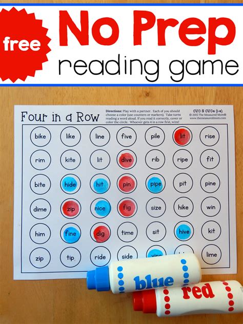 printable games to help with reading practice reading i e words with these quick games the