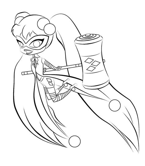 coloring book quinn disney chibi lineart search coloring