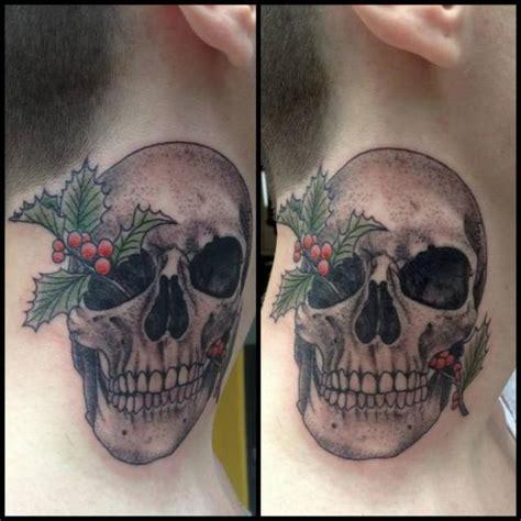 tattoo neck skull skull neck tattoo by tin tin tattoos