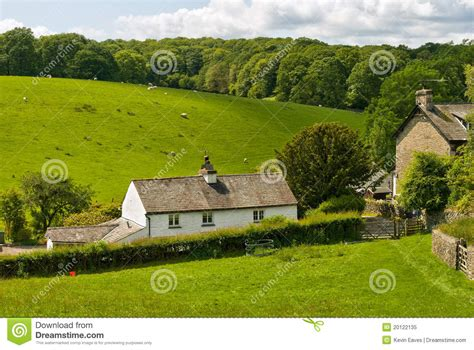 Cottage In The Woods Cumbria by Whitewashed Cottage In Rural Setting Royalty Free Stock