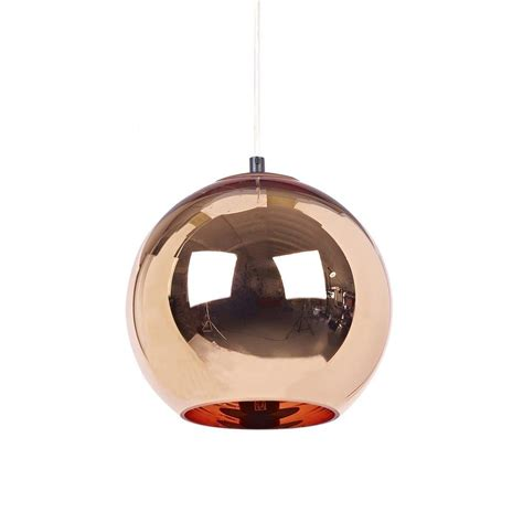 Glossy 25cm copper shade suspension l tom dixon ambientedirect