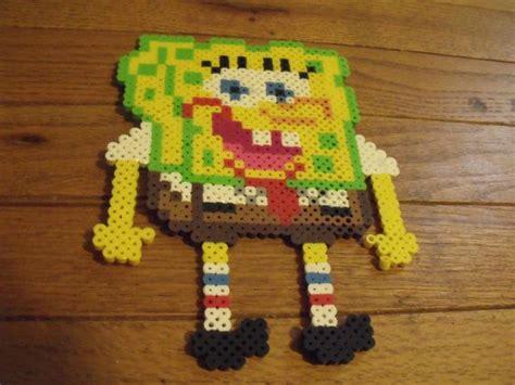 perler spongebob spongebob squarepants and large perler bead