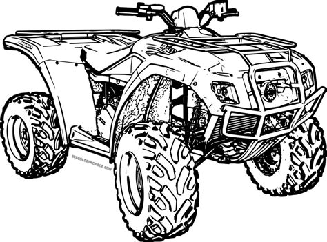 4 Wheeler Coloring Pages by Four Wheelers Free Coloring Pages