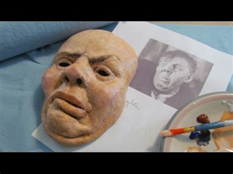 How To Make A Mask From Paper Mache - paper mache portrait mask