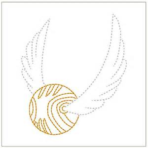 golden snitch machine embroidery pattern she s