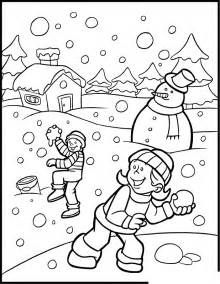 fichas ingl 233 ni 241 os winter coloring pages