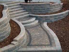 Landscape Block Stairs by Landscape Block Retaining Wall Steps Retaining Wall