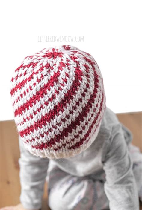 knitting pattern tester jobs peppermint candy cane hat knitting pattern little red window