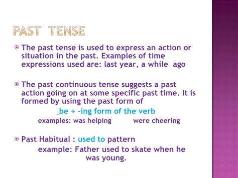 pattern past continuous tense english iii pointers