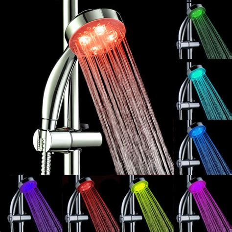 Faucet Keran Air Led 7 Warna Dengan Konektor kepala shower mandi led 7 warna multi color jakartanotebook