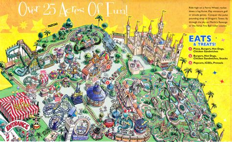amusement parks california map castle amusement park 2009 park map