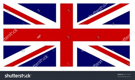 uk flag colors flag exact dimensions colours stock vector