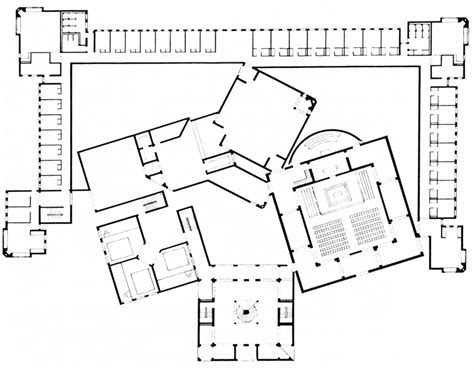 louis kahn floor plans louis i kahn dominican sisters convent first floor