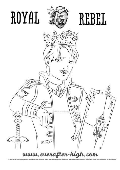 ever after high coloring pages darling charming daring charming coloring page jpg 1 063 215 1 504 pixels