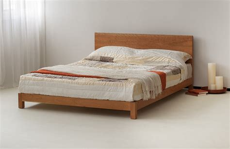 low bed headboard sonora solid low wooden beds natural bed company