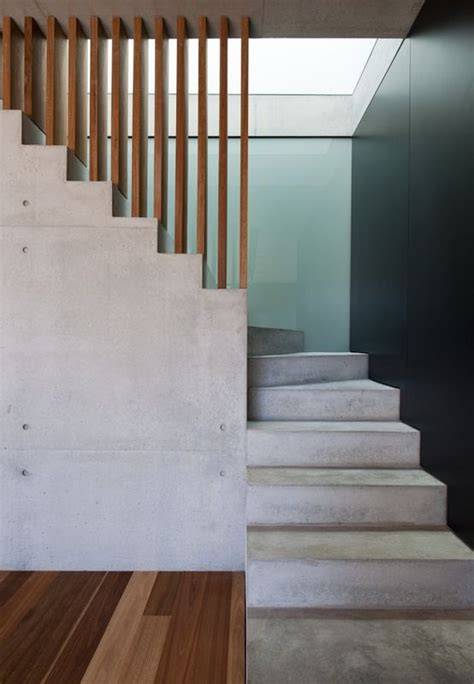 Interior Concrete Stairs Design Beautiful Concrete And Wood Stairs House Pinterest