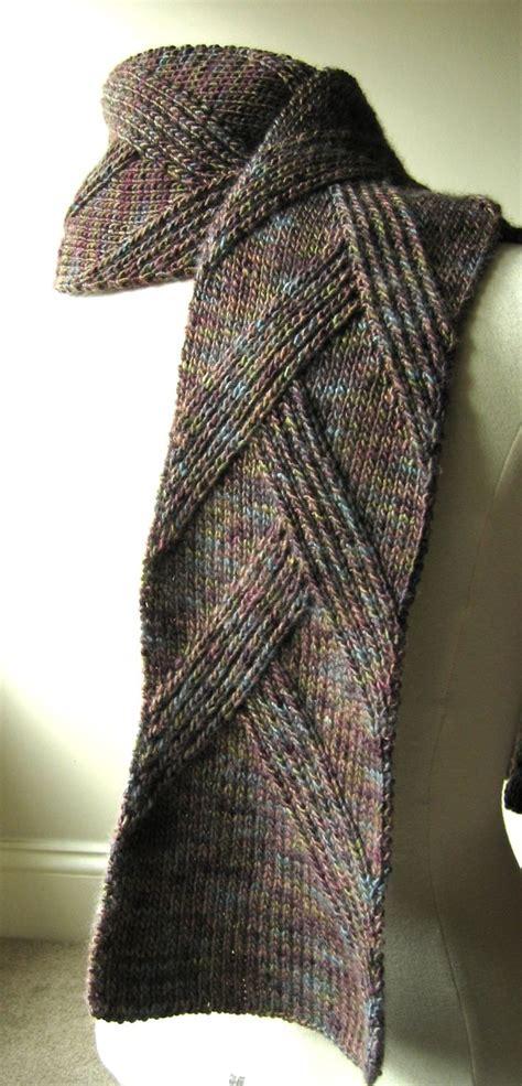 knitting pattern crossover scarf free pattern neck wares pinterest