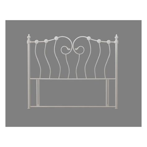 king size headboards uk time living inova 5ft king size ivory metal headboard